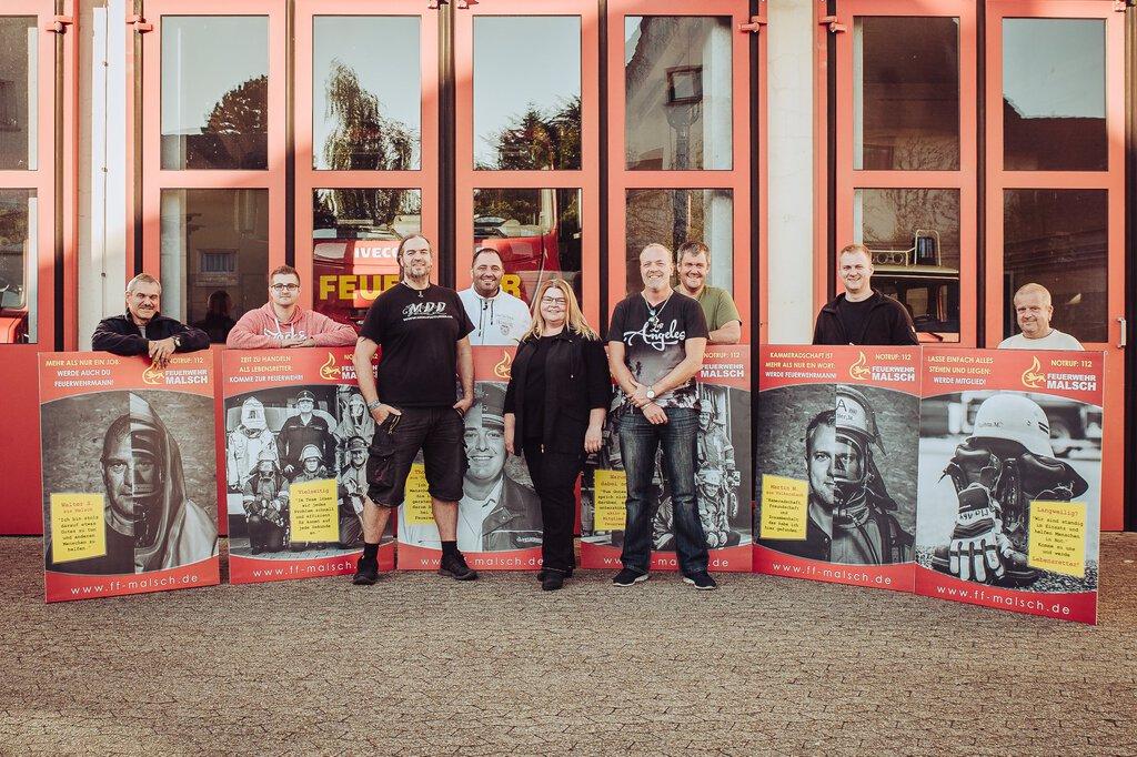 Werbekampagne der Feuerwehr Malsch 2019 / 2020